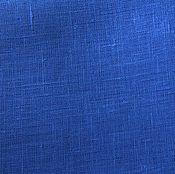 Материалы для творчества ручной работы. Ярмарка Мастеров - ручная работа Лён 100%. Яркий синий.. Handmade.