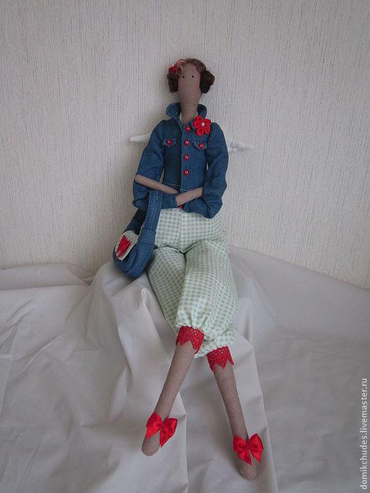 Куклы Тильды ручной работы. Ярмарка Мастеров - ручная работа. Купить Тильда-Модница для Марины. Handmade. Тильда, лён