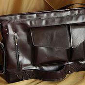 Сумки и аксессуары handmade. Livemaster - original item Redbag genuine leather laptop backpack. Handmade.