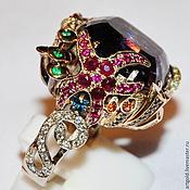 """Украшения ручной работы. Ярмарка Мастеров - ручная работа Кольцо """"Владычица Морская"""" - кольцо с аметистом и самоцветами. Handmade."""