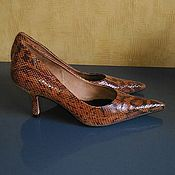 Винтажная обувь ручной работы. Ярмарка Мастеров - ручная работа Женские туфли- лодочки из натуральной кожи производство Бразилия. Handmade.