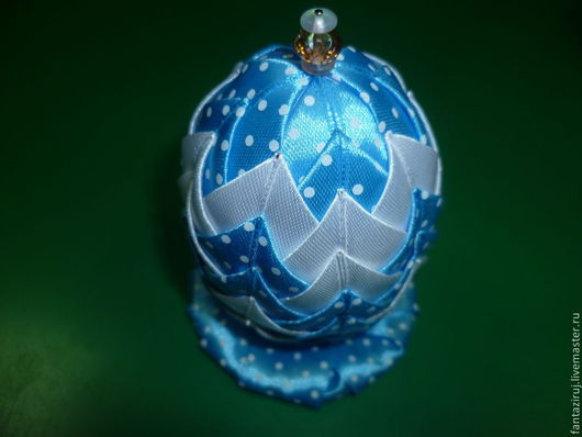 Подарки на Пасху ручной работы. Ярмарка Мастеров - ручная работа. Купить Яйцо сувенирное Пасхальное. Handmade. Голубой, атласные ленты