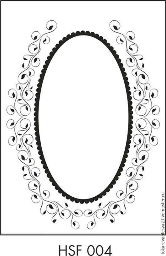Открытки и скрапбукинг ручной работы. Ярмарка Мастеров - ручная работа. Купить Папка для тиснения Oval frame-1 106х150 мм. Handmade.