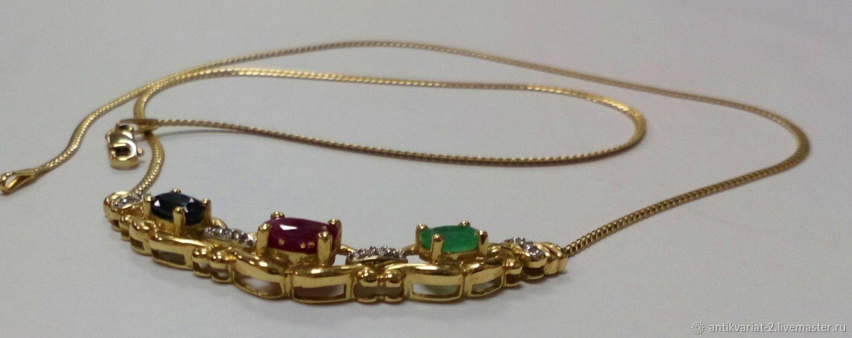Колье с натуральными камнями, золото 585, Колье, Тверь,  Фото №1