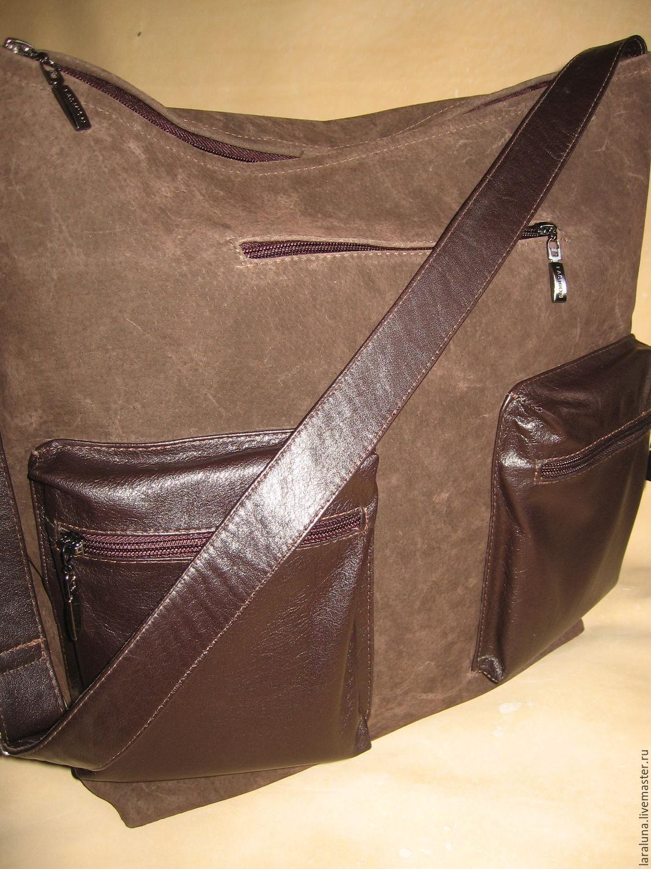5d2bd19f Мужские сумки ручной работы. Ярмарка Мастеров - ручная работа. Купить  Кожаная сумка 'Унисекс ...
