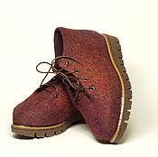 """Обувь ручной работы. Ярмарка Мастеров - ручная работа Валяные ботиночки """"Татьянин День"""". Handmade."""