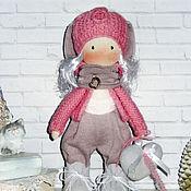 Куклы и пупсы ручной работы. Ярмарка Мастеров - ручная работа Кукла текстильная Эльф в розовом. Handmade.