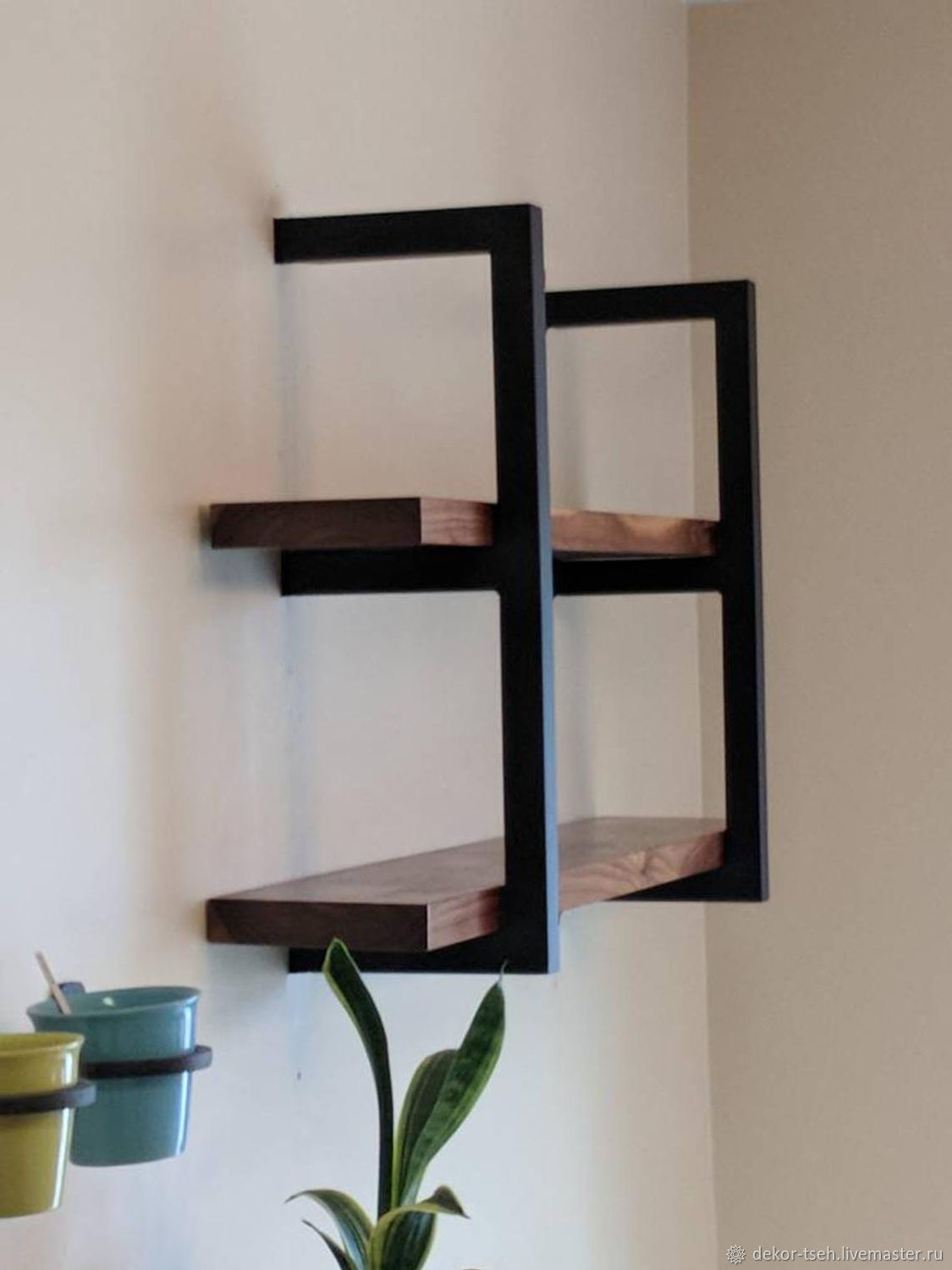Wall shelves in loft style, Shelves, Chelyabinsk,  Фото №1