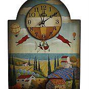 Для дома и интерьера ручной работы. Ярмарка Мастеров - ручная работа Часы с накладными элементами. Handmade.