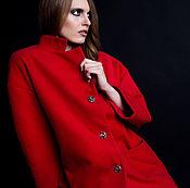 Одежда ручной работы. Ярмарка Мастеров - ручная работа SS2017 Красное пальто. Handmade.