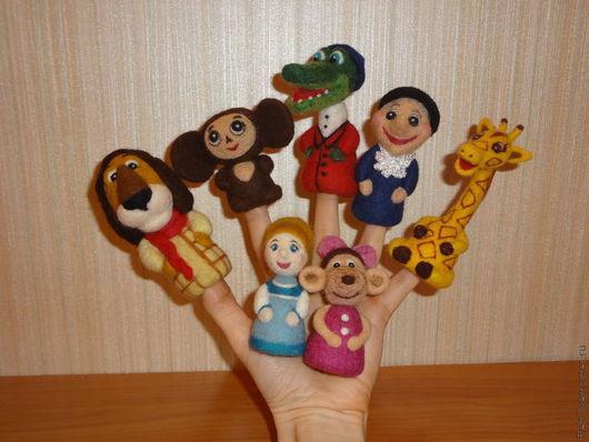 Кукольный театр ручной работы. Ярмарка Мастеров - ручная работа. Купить Пальчиковая игрушка. Handmade. Пальчиковые игрушки, герои мультфильмов