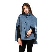 Coats handmade. Livemaster - original item Coat Cape oversized color Denim. Handmade.