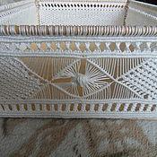 Для дома и интерьера ручной работы. Ярмарка Мастеров - ручная работа Короб плетенный макраме для хранения. Handmade.
