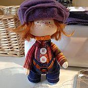 Куклы и игрушки ручной работы. Ярмарка Мастеров - ручная работа Рыжий, рыжий, конопатый. Мальчик с медвежонком.. Handmade.