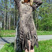 """Одежда ручной работы. Ярмарка Мастеров - ручная работа валяное платье """"Шервудский лес"""". Handmade."""