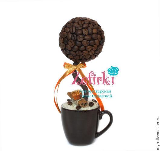 Топиарии ручной работы. Ярмарка Мастеров - ручная работа. Купить Кофейные деревья кофейное сердце кофейный шар кофе в кружке. Handmade.