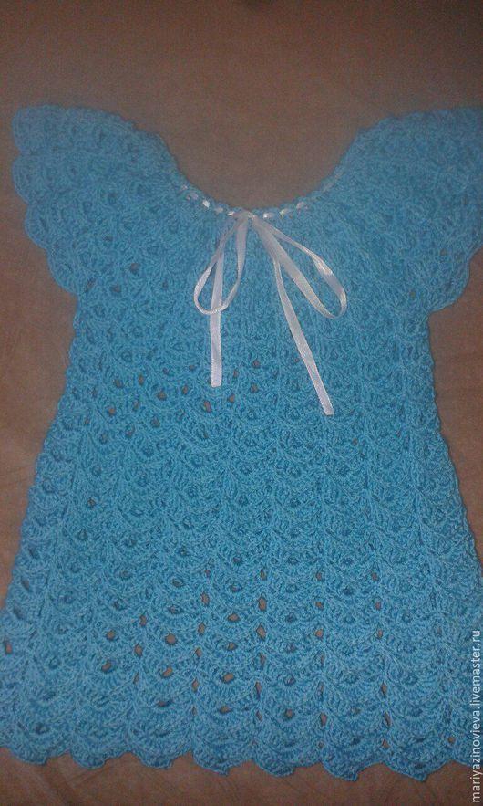 Одежда для девочек, ручной работы. Ярмарка Мастеров - ручная работа. Купить туника. Handmade. Тёмно-бирюзовый, микрофибра, микрофибра