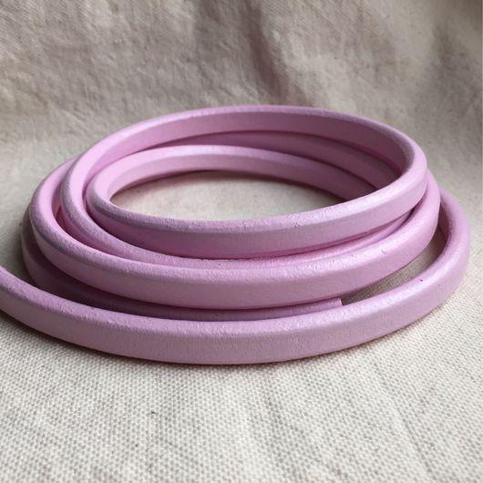 Для украшений ручной работы. Ярмарка Мастеров - ручная работа. Купить Шнур кожаный регализ нежно-розовый. Handmade. Регализ