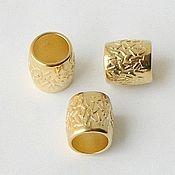Бусины ручной работы. Ярмарка Мастеров - ручная работа Бусина металлическая, отверстие 10 мм. Handmade.
