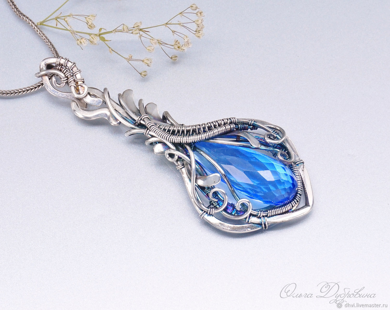 Pendant in sterling silver pendant with quartz wire wrap shop order pendant in sterling silver pendant with quartz wire wrap aloadofball Images