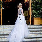 Свадебный салон ручной работы. Ярмарка Мастеров - ручная работа Свадебное платье с ручной вышивкой Alira. Handmade.