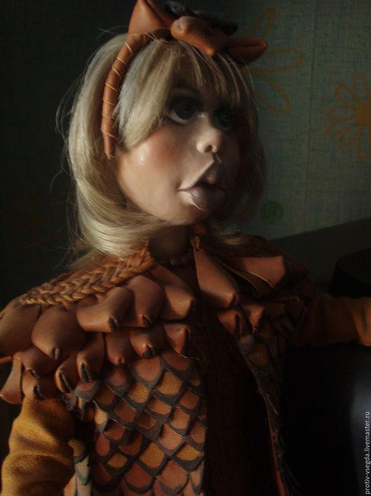 Коллекционные куклы ручной работы. Ярмарка Мастеров - ручная работа. Купить Шишка. Handmade. Рыжий, шишка, натуральная замша