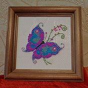 Картины и панно ручной работы. Ярмарка Мастеров - ручная работа Бабочка-красавица. Handmade.