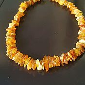 Работы для детей, handmade. Livemaster - original item Healing beads made of natural Baltic amber, unpolished. Handmade.