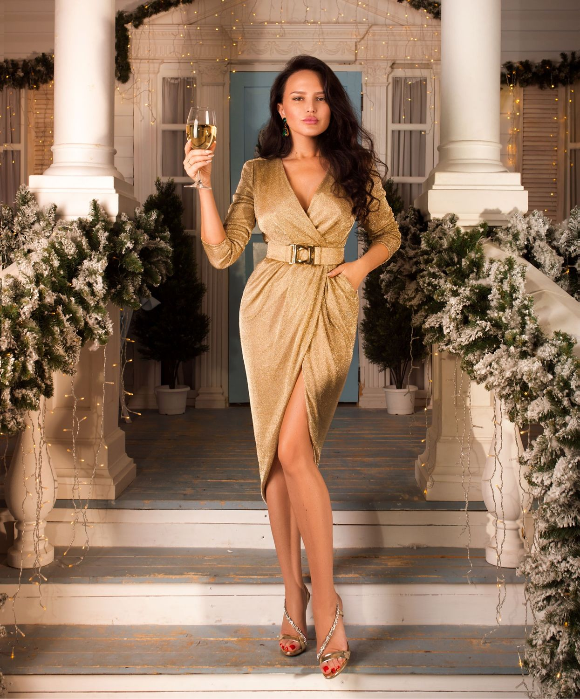 Золотое платье BLIND 00599, Платья, Харьков,  Фото №1