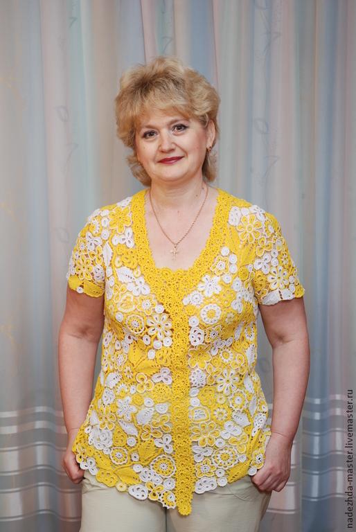 Блузки ручной работы. Ярмарка Мастеров - ручная работа. Купить Блуза летняя кружевная, майка ажурная, женский топ, летняя одежда. Handmade.