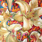 Картины и панно handmade. Livemaster - original item Oil painting Flowers of love. Handmade.