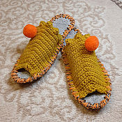 Тапочки ручной работы. Ярмарка Мастеров - ручная работа Тапочки: Домашние тапочки. Handmade.