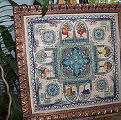 """Картины ручной работы. Ярмарка Мастеров - ручная работа мандала """"POMARIUM - Средневековый фруктовый сад"""". Handmade."""