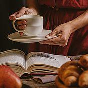 Посуда handmade. Livemaster - original item Mugs and cups: 200 ml mug and saucer-Tea pair. Handmade.