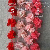 Материалы для творчества ручной работы. Ярмарка Мастеров - ручная работа цветы из шифона на ленте. Handmade.