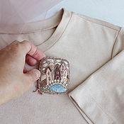 Украшения handmade. Livemaster - original item And again at the Bridge. Felt brooch with embroidery. Handmade.