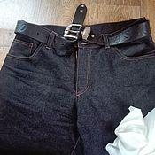 Джинсы ручной работы. Ярмарка Мастеров - ручная работа Мужские брюки. Handmade.