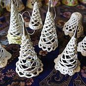 Для дома и интерьера ручной работы. Ярмарка Мастеров - ручная работа Новогодние и рождественские фарфоровые украшения. Handmade.