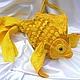 """Женские сумки ручной работы. Ярмарка Мастеров - ручная работа. Купить Арт-сумка """"Золотая"""". Handmade. Рыба, рыбка, звериный"""