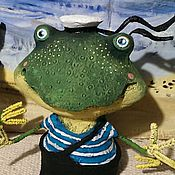 Куклы и игрушки ручной работы. Ярмарка Мастеров - ручная работа Лягушата -мореплаватели). Handmade.
