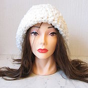 Аксессуары handmade. Livemaster - original item White cap MILK. Handmade.