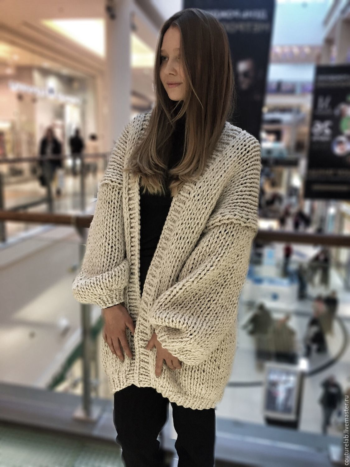 Fashion milk women s cardigan – shop online on Livemaster with ... 7d8507cad