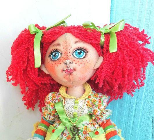Коллекционные куклы ручной работы. Ярмарка Мастеров - ручная работа. Купить Текстильная кукла Рыжуля. Handmade. Рыжий, подарок девушке