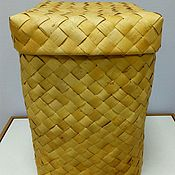 Короб ручной работы. Ярмарка Мастеров - ручная работа Короб плетеный  из бересты. Handmade.