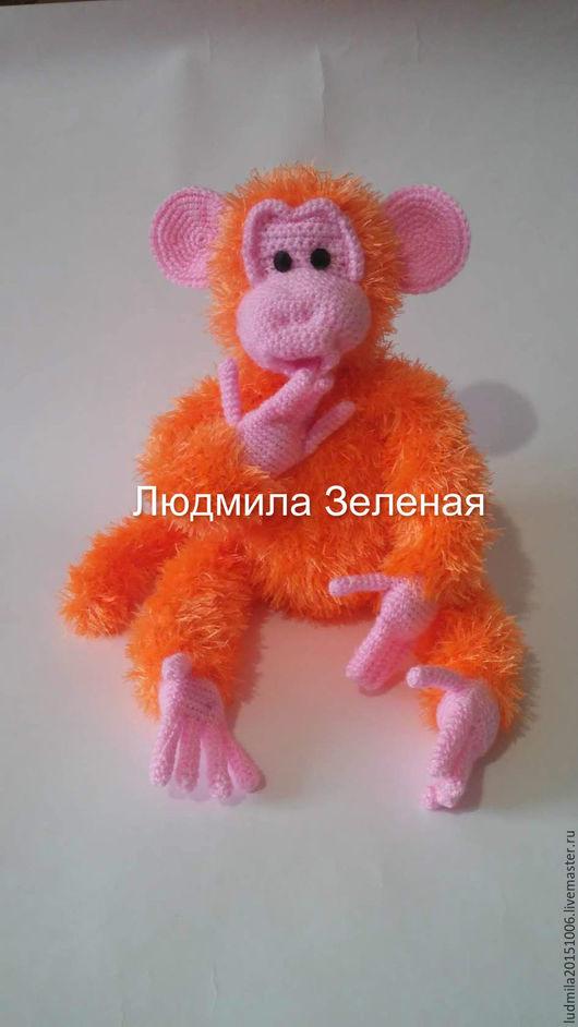 Игрушки животные, ручной работы. Ярмарка Мастеров - ручная работа. Купить Обезьянка  Рыжик. Handmade. Рыжий, обезьянка вязаная