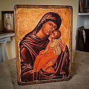 Картины и панно handmade. Livemaster - original item Icon Of Mother Of God Of Yaroslavl. Wood, gesso. Handmade.