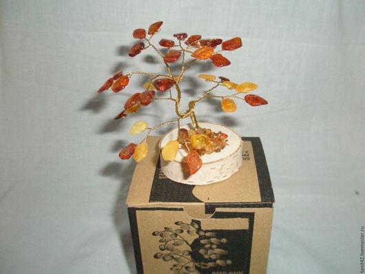 Подарочные наборы ручной работы. Ярмарка Мастеров - ручная работа. Купить янтарное деревце. Handmade. Оранжевый, подарок женщине