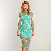 Одежда handmade. Livemaster - original item Mint evening dress. Handmade.