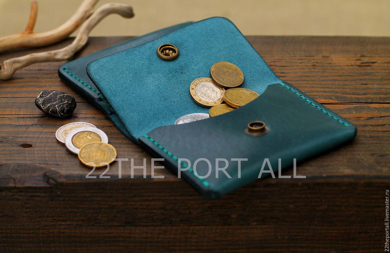 Купить Кардхолдер-монетница Кошельки и визитницы ручной работы. Кардхолдер-монетница  кожаная, портмоне кожаное. 22THEPORTALL. 82540d9243f