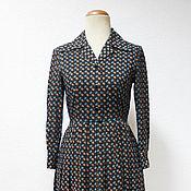 Одежда винтажная ручной работы. Ярмарка Мастеров - ручная работа Платье Hanamura винтаж 60-е годы. Handmade.